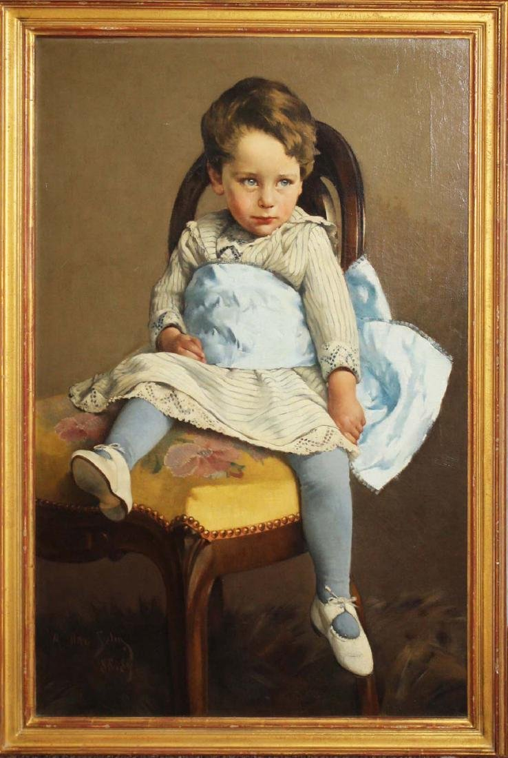 A Otto Selig  portrait of a young boy - 2