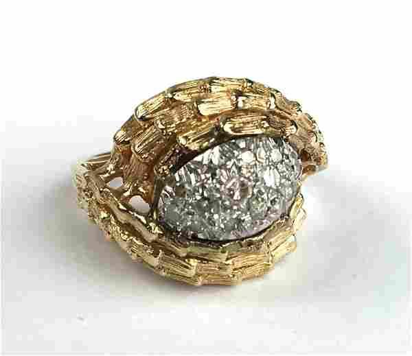 14 k y g diamond melee ladies ring