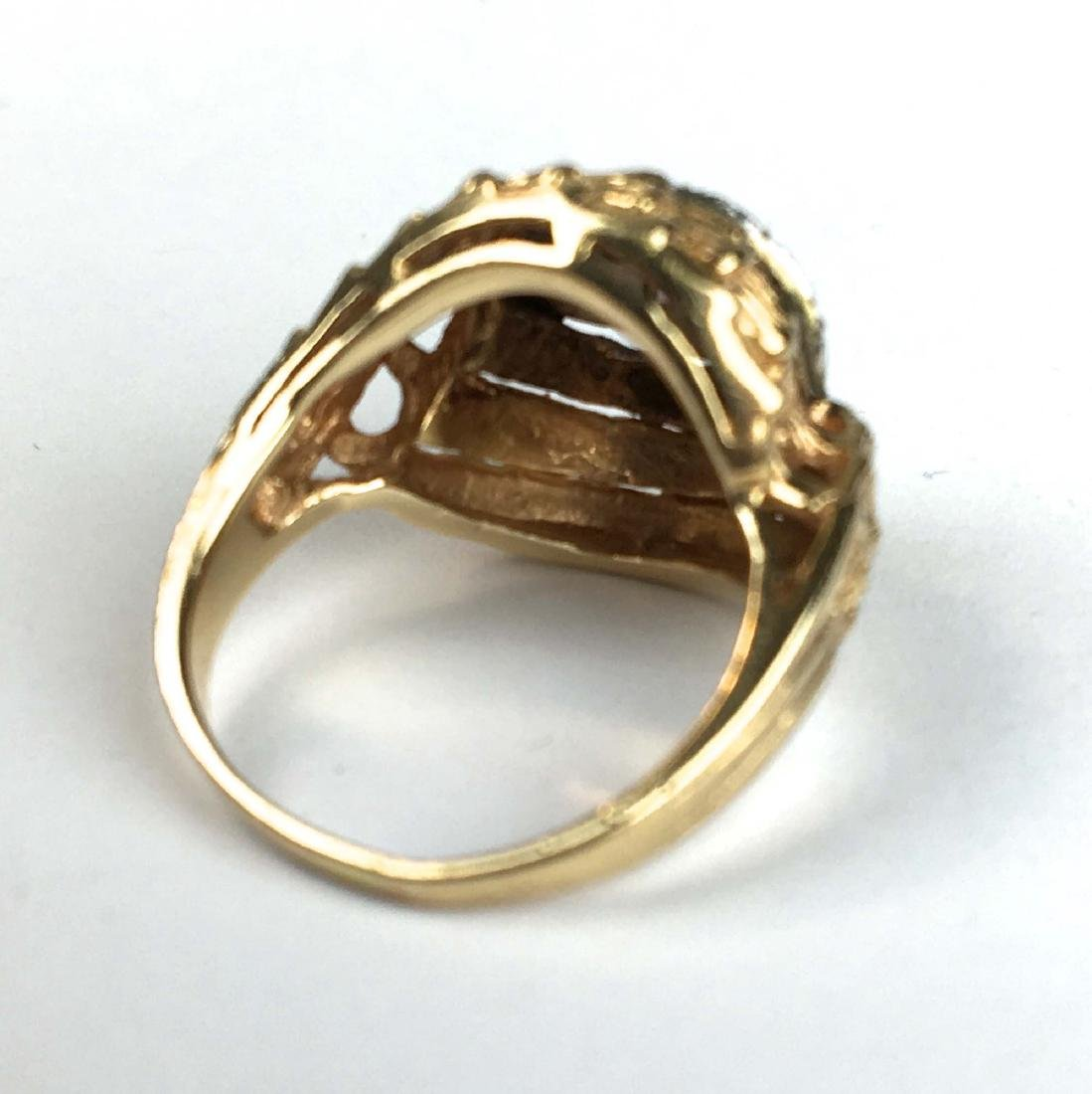 14 k y g diamond melee ladies ring - 2