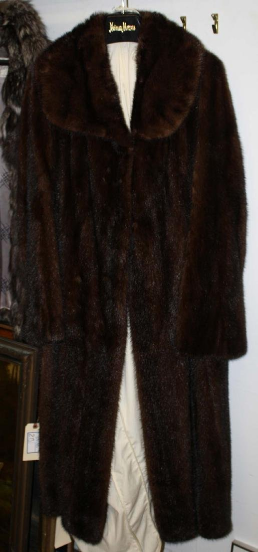 Neiman Marcus labeled full length mink coat