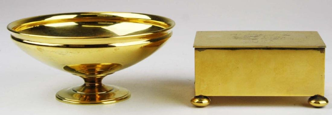 Two Tiffany & Co. gilt sterling silver pcs.
