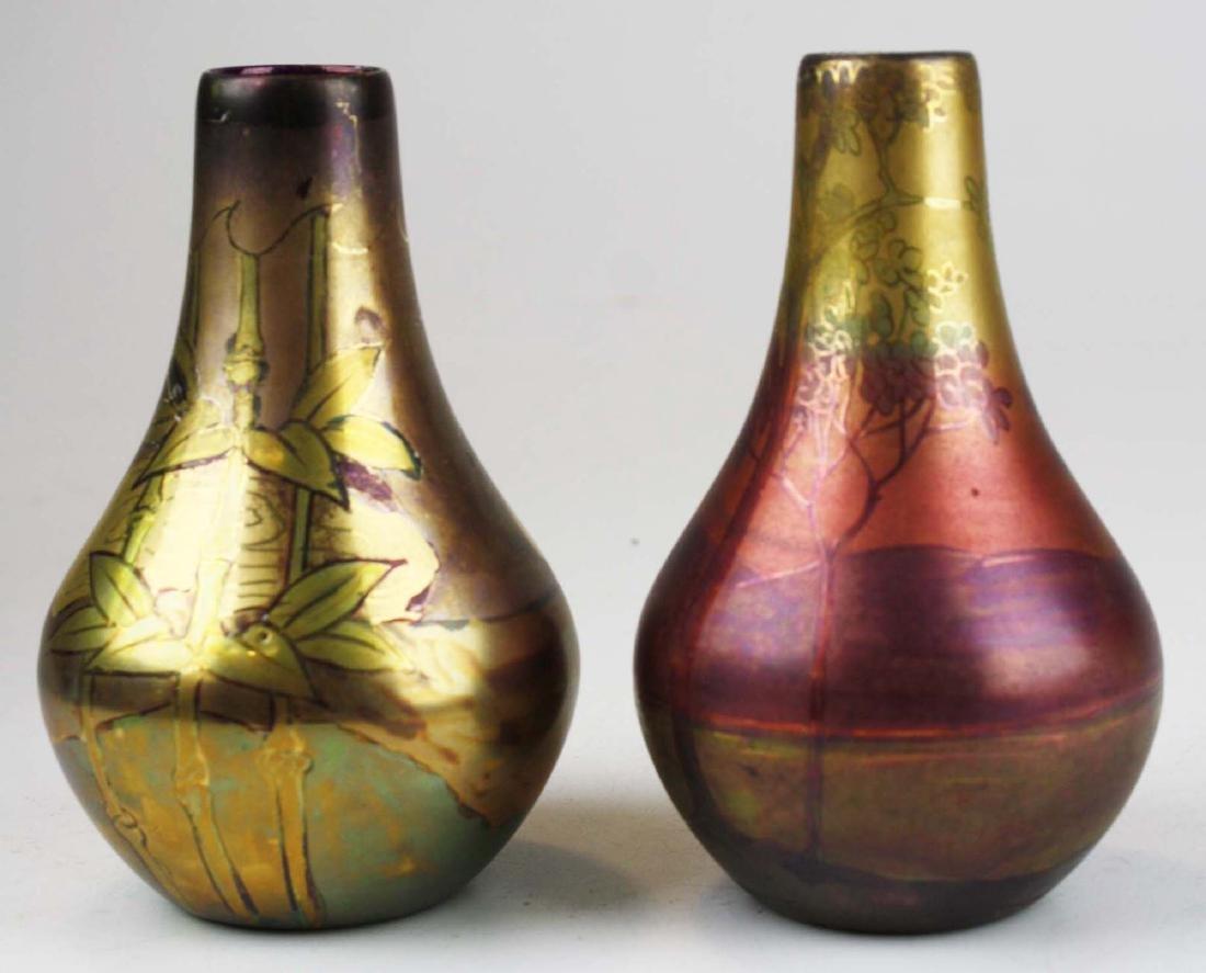 Two Weller LaSa art pottery vases