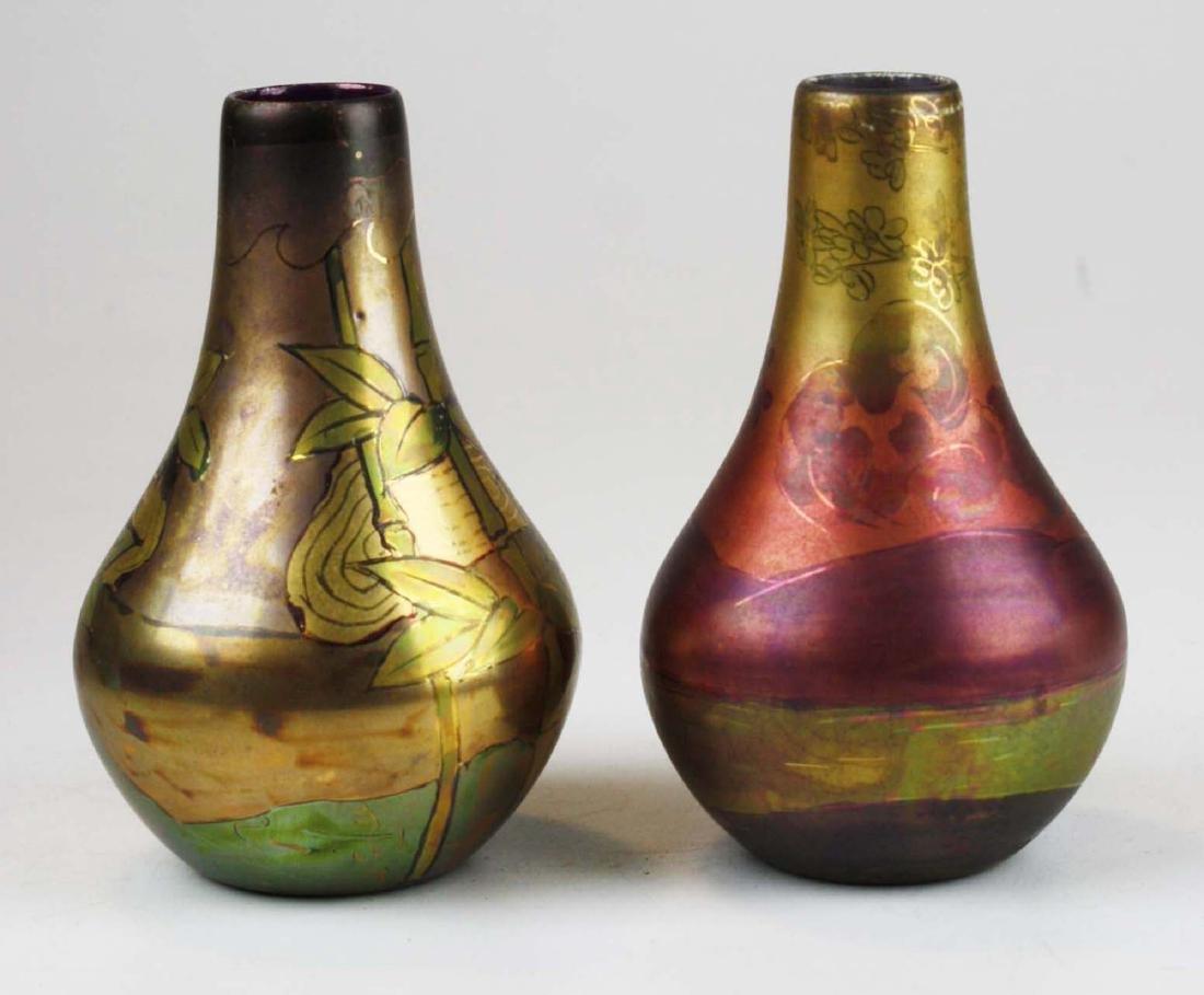 Two Weller LaSa art pottery vases - 2