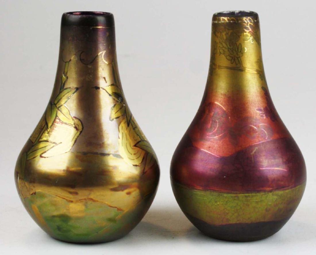 Two Weller LaSa art pottery vases - 3