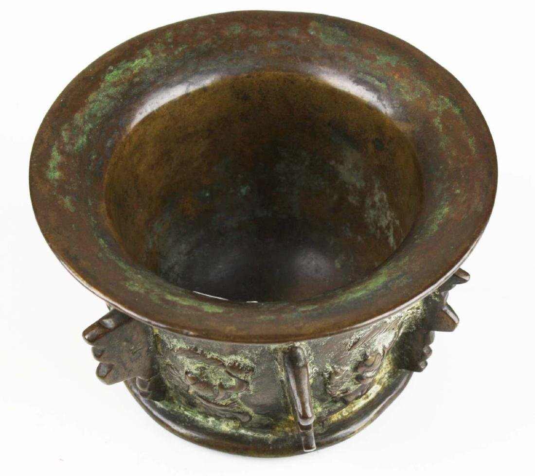 17th c Spanish bronze apothecary mortar - 2