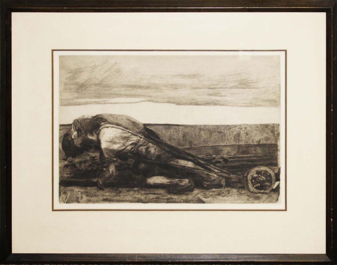 Kathe Kollwitz (1867-1945) Plowing - 2