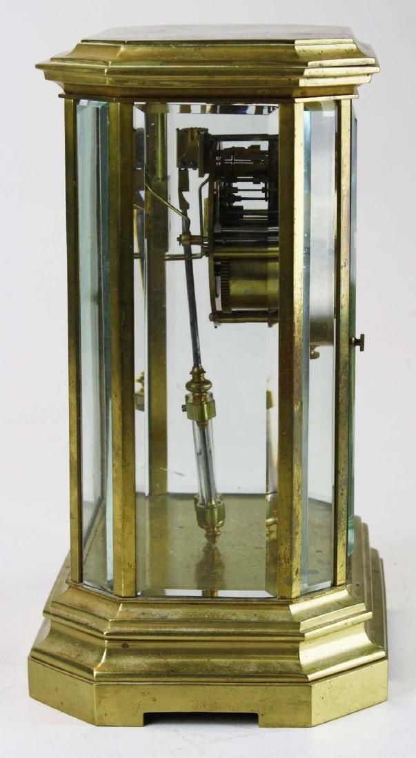 1889 French gilt brass crystal regulator clock - 2