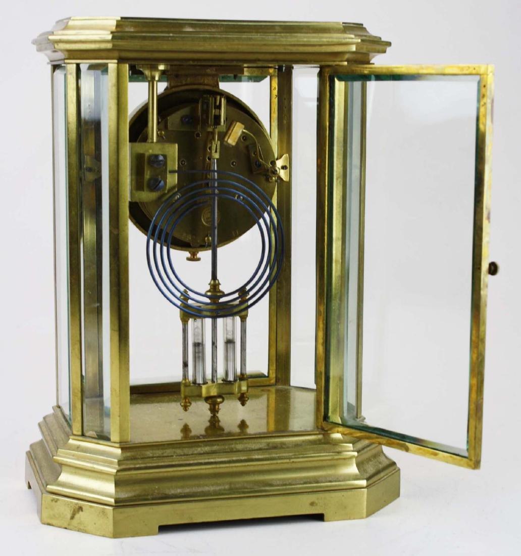 1889 French gilt brass crystal regulator clock - 3