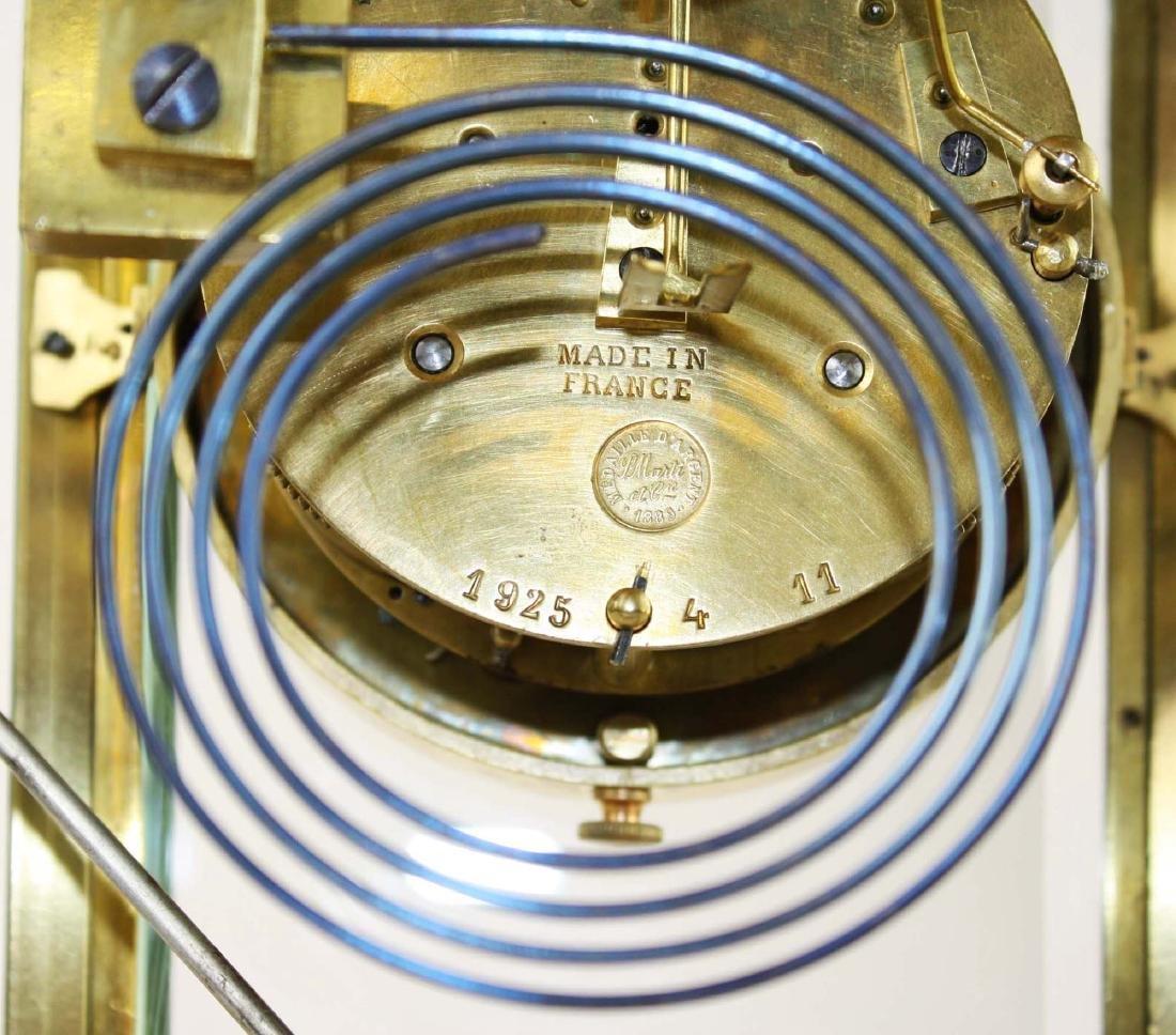 1889 French gilt brass crystal regulator clock - 5