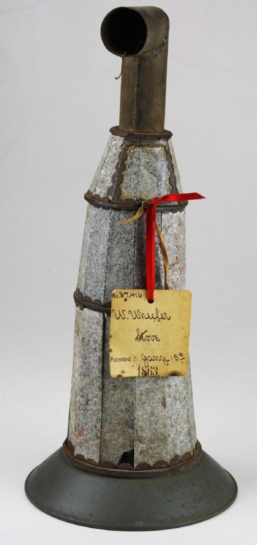 W Wheeler, poultney, VT stove patent model