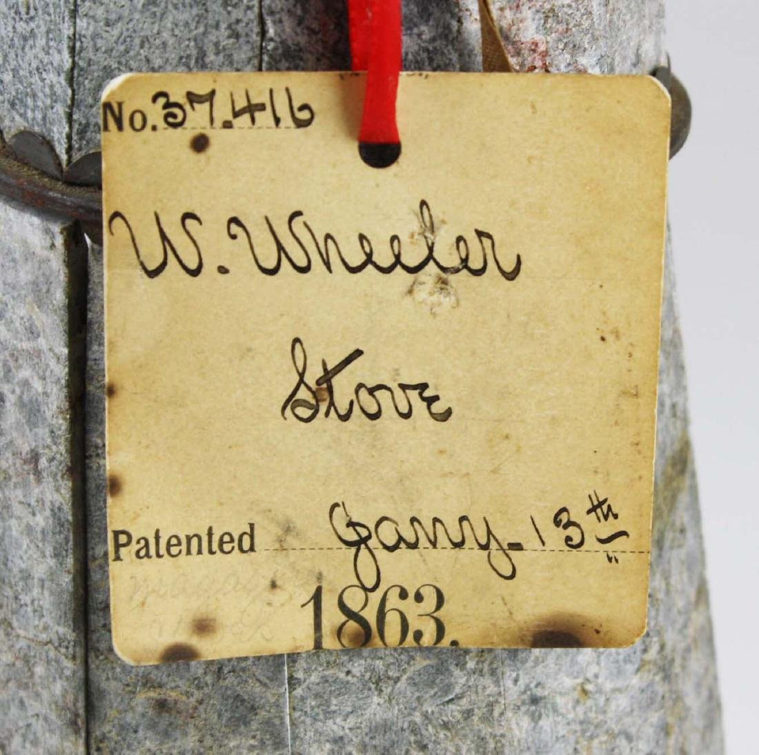 W Wheeler, poultney, VT stove patent model - 2