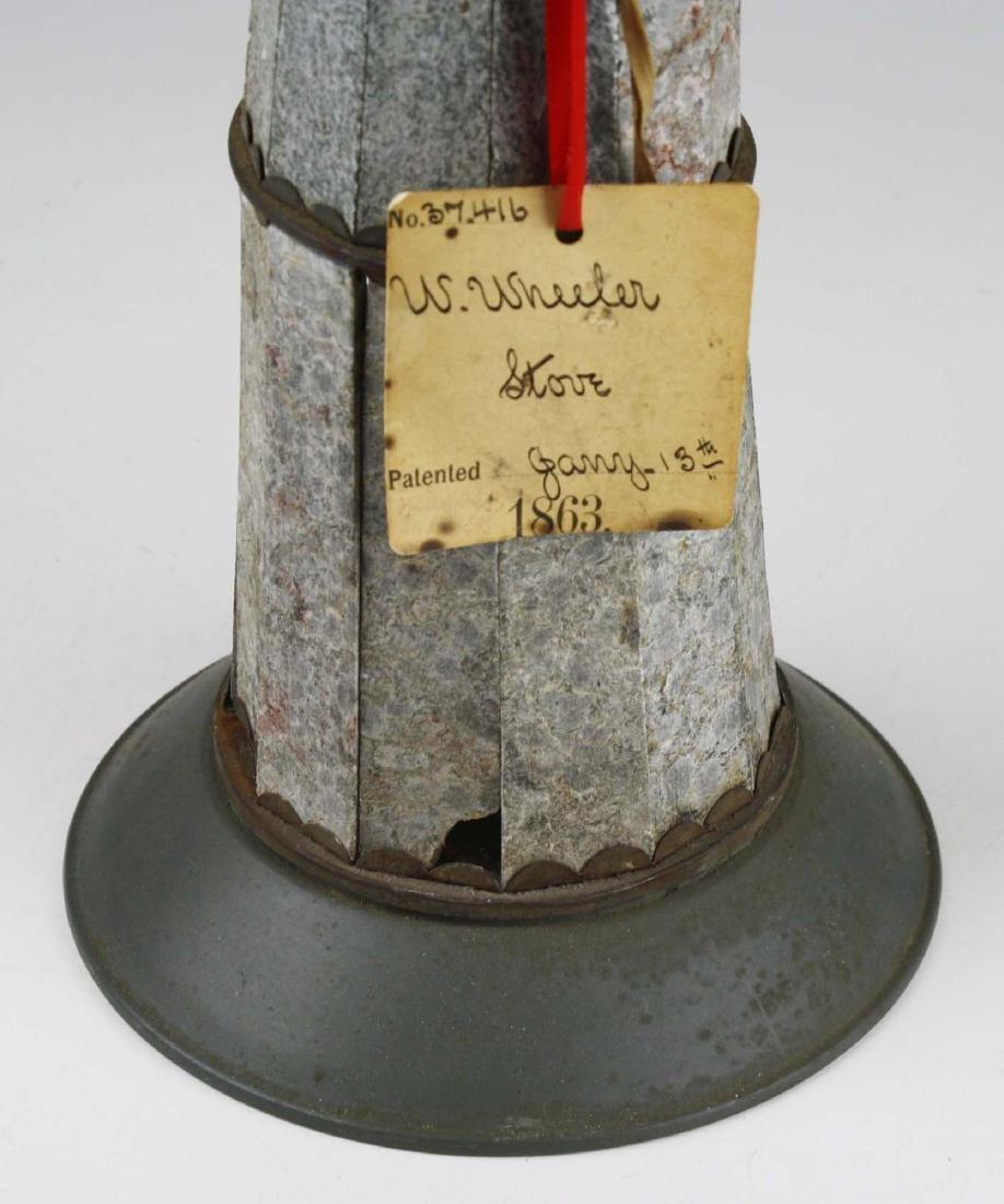 W Wheeler, poultney, VT stove patent model - 4