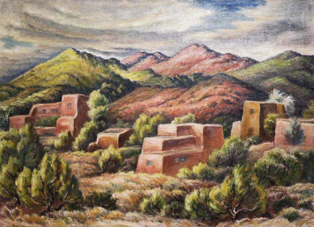 Paul Rohland (AM 1884-1949) Adobe Houses