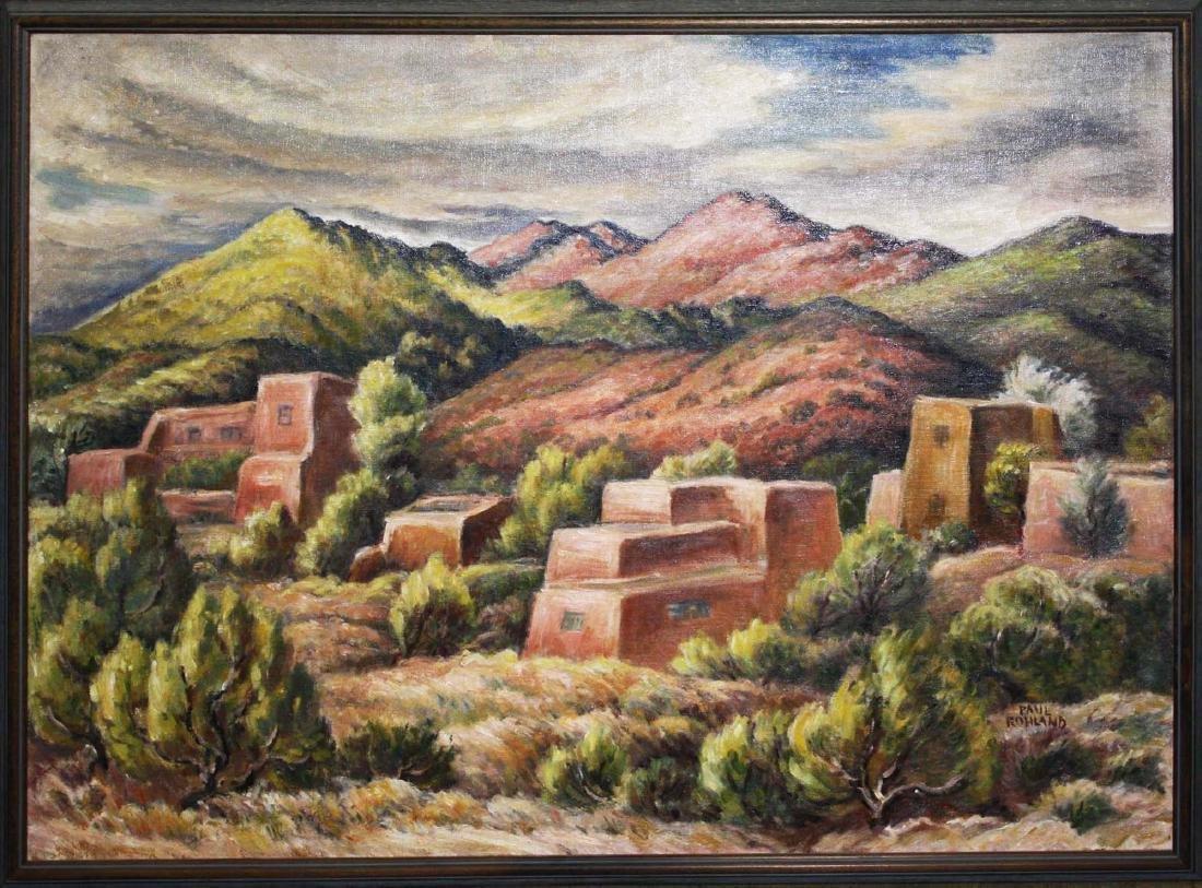 Paul Rohland (AM 1884-1949) Adobe Houses - 2