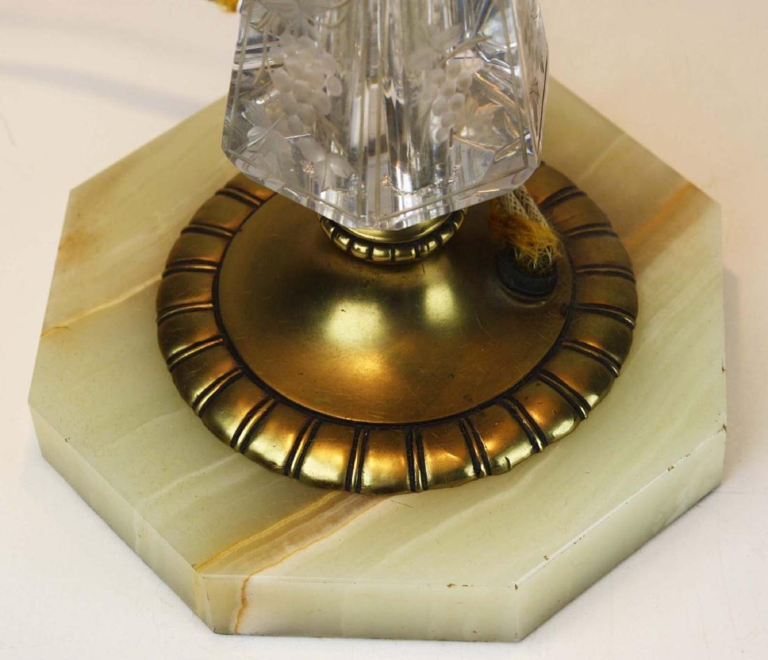 Pairpoint reverse ptd shade lamp- repaired - 9