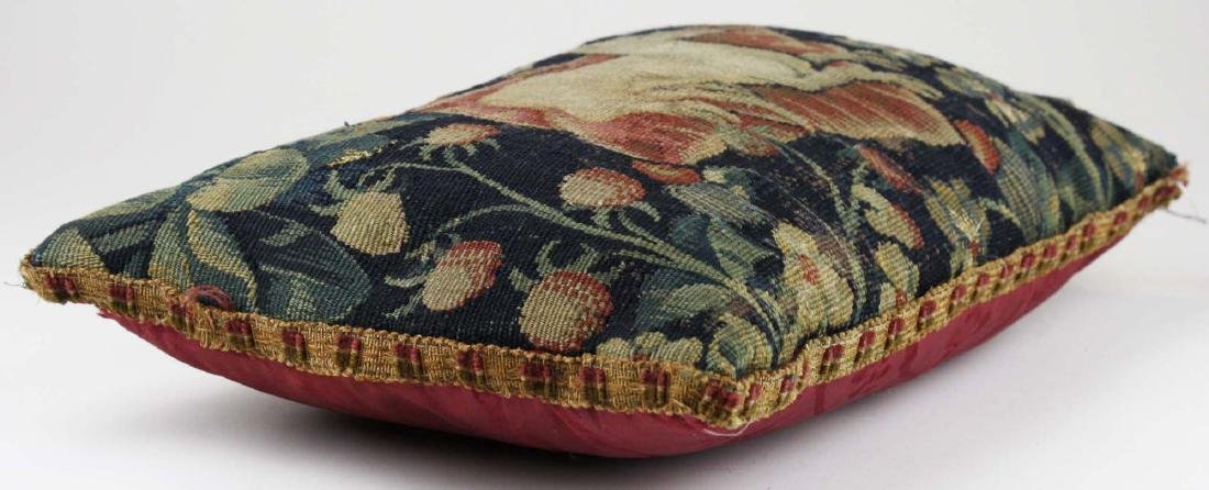 17th c Flemish tapestry fragment pillow - 2