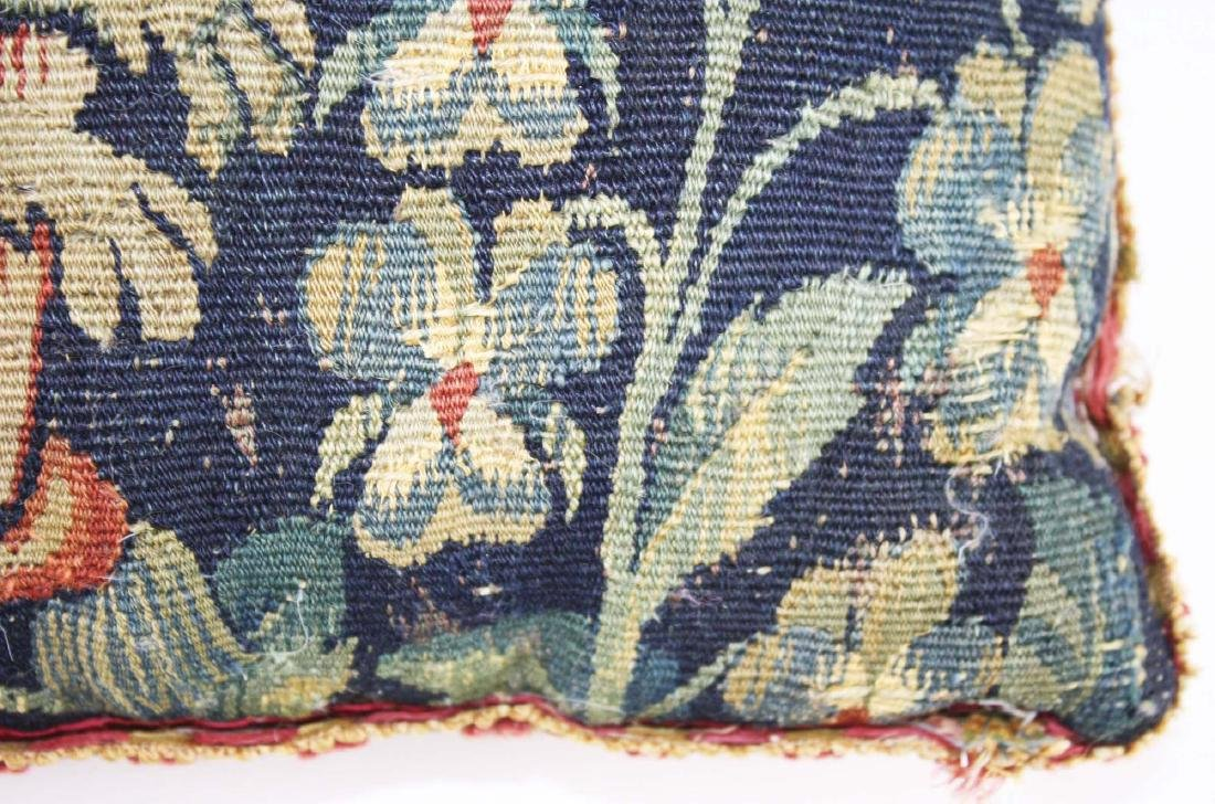 17th c Flemish tapestry fragment pillow - 4