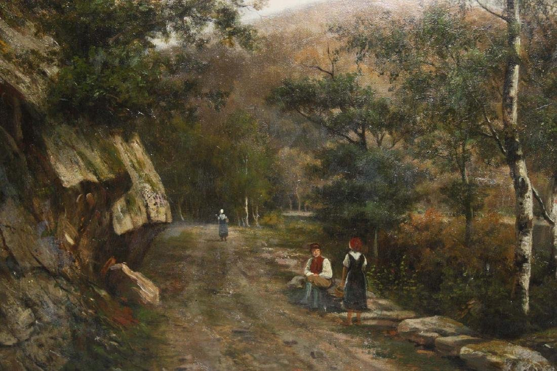 Henry Lewis (Am 1819-1904)Landscape with peasants - 7