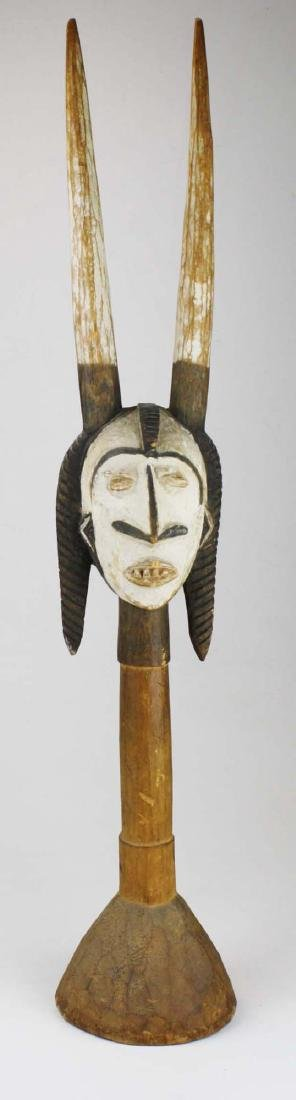 African Ikenga carved horned Alusi figure