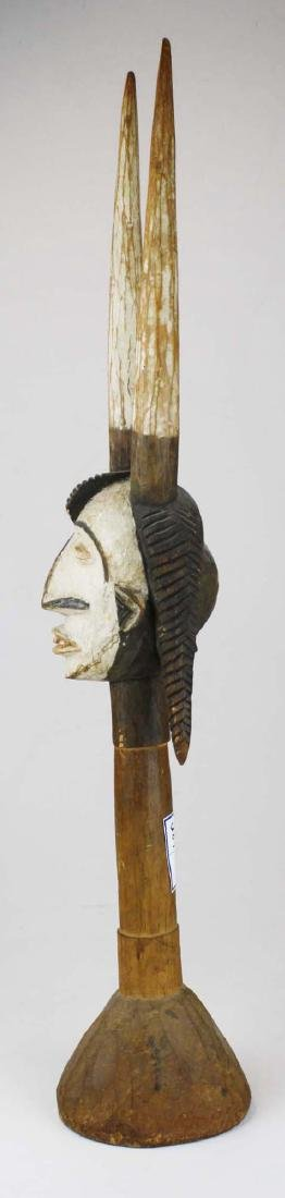 African Ikenga carved horned Alusi figure - 5