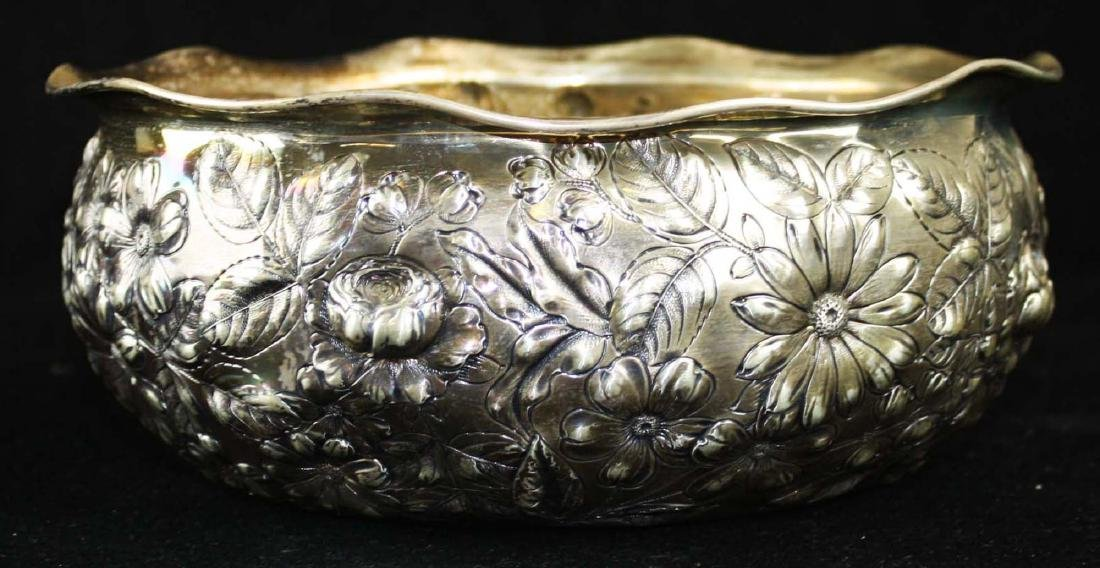 Gorham repousse sterling bowl