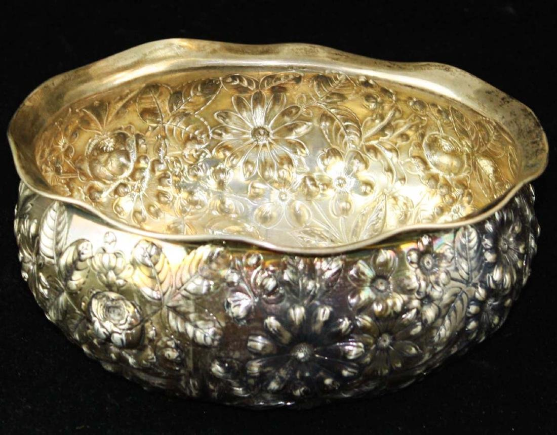 Gorham repousse sterling bowl - 2