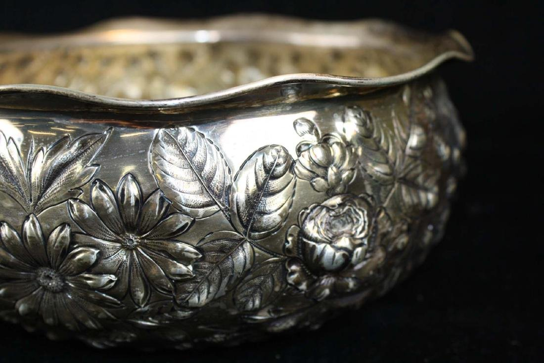 Gorham repousse sterling bowl - 7