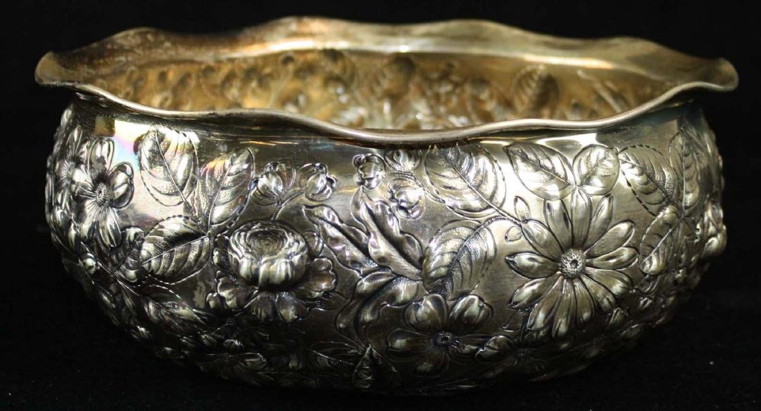 Gorham repousse sterling bowl - 9