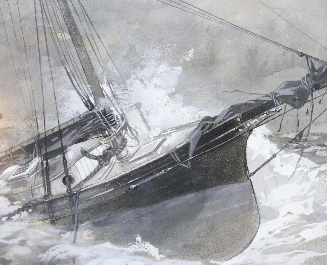 19th c scene with ship in distress - 5