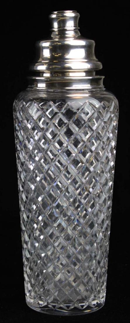 Hawkes cut glass and silver cocktail shaker - 2