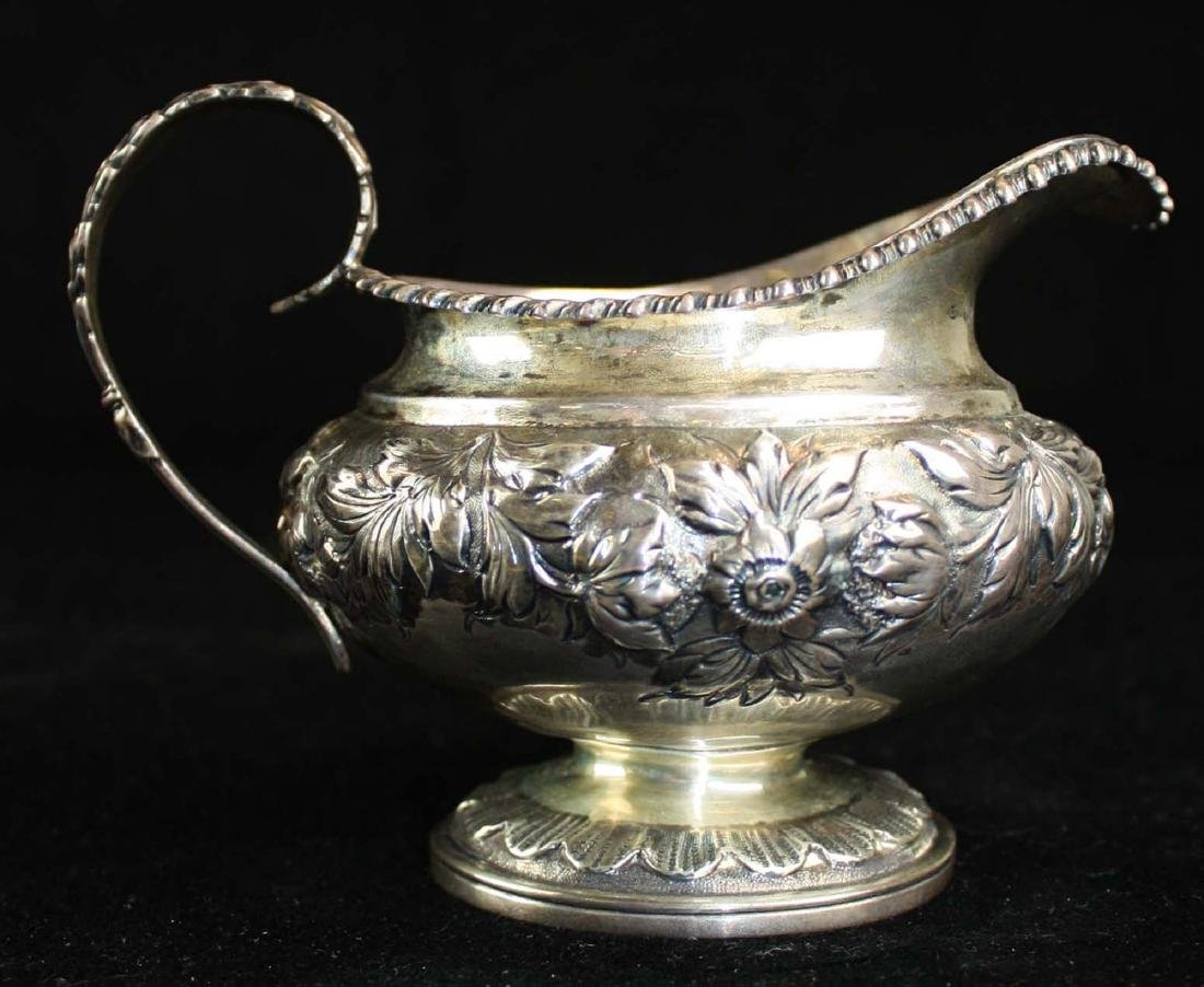 1825-26 Charles Fox London silver creamer - 9