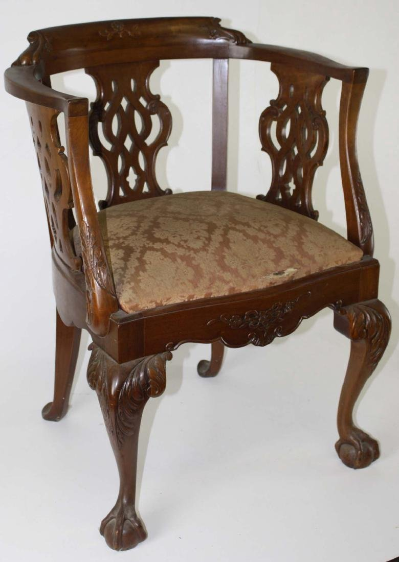19th C Chippendale carved armchair