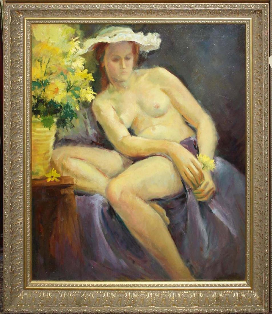 Joseph Mueller (Am 1924-2007) Reclining nude