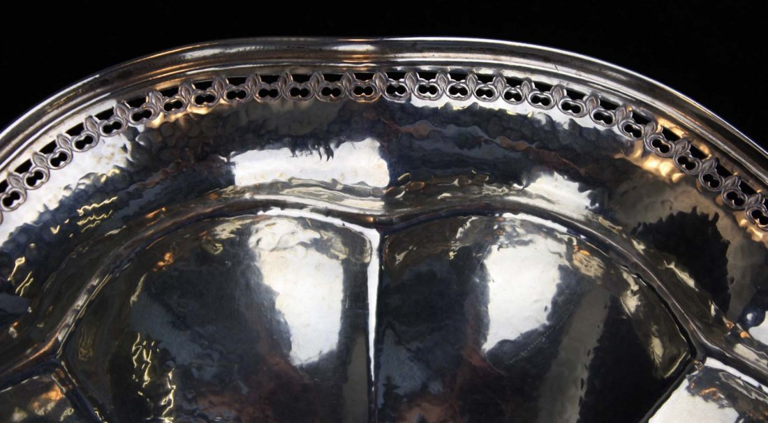 scalloped rim sterling silver serving bowl - 5