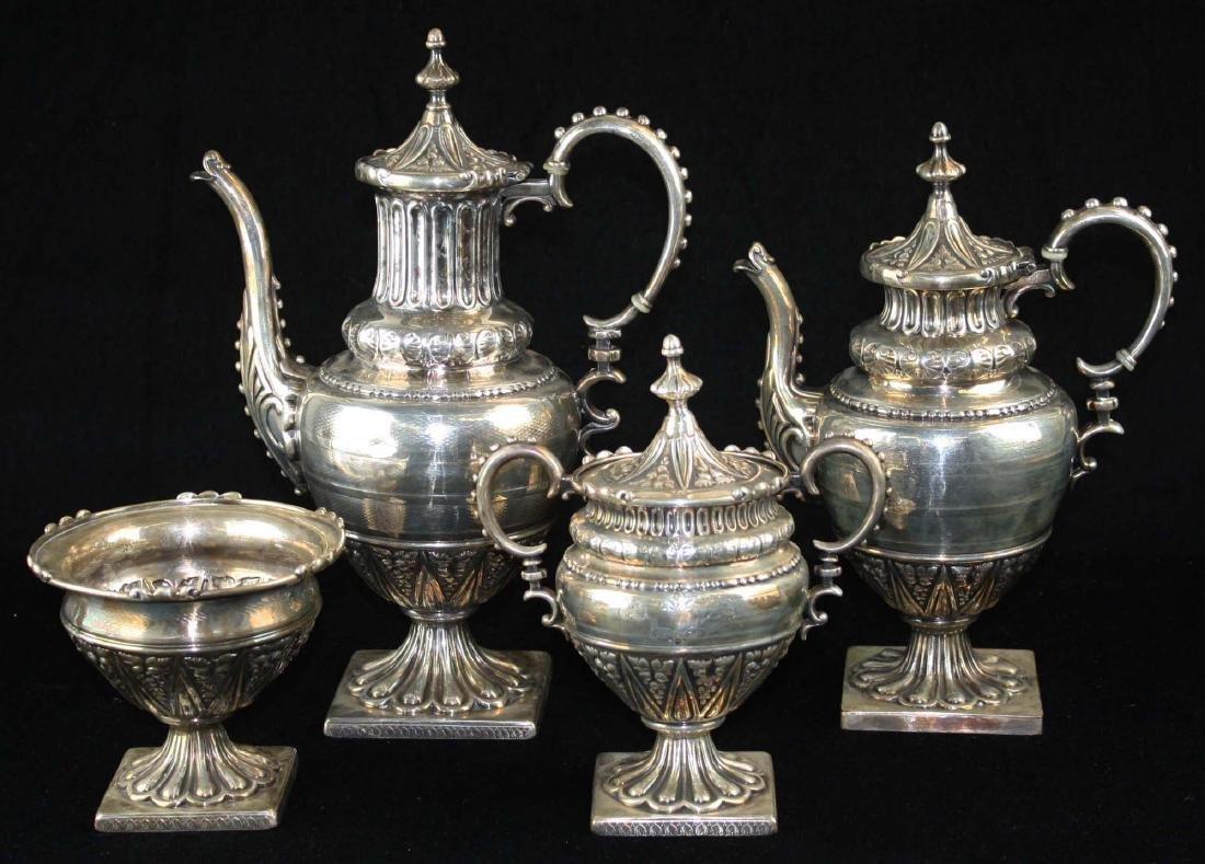 4 pc Reed & Barton plated tea set