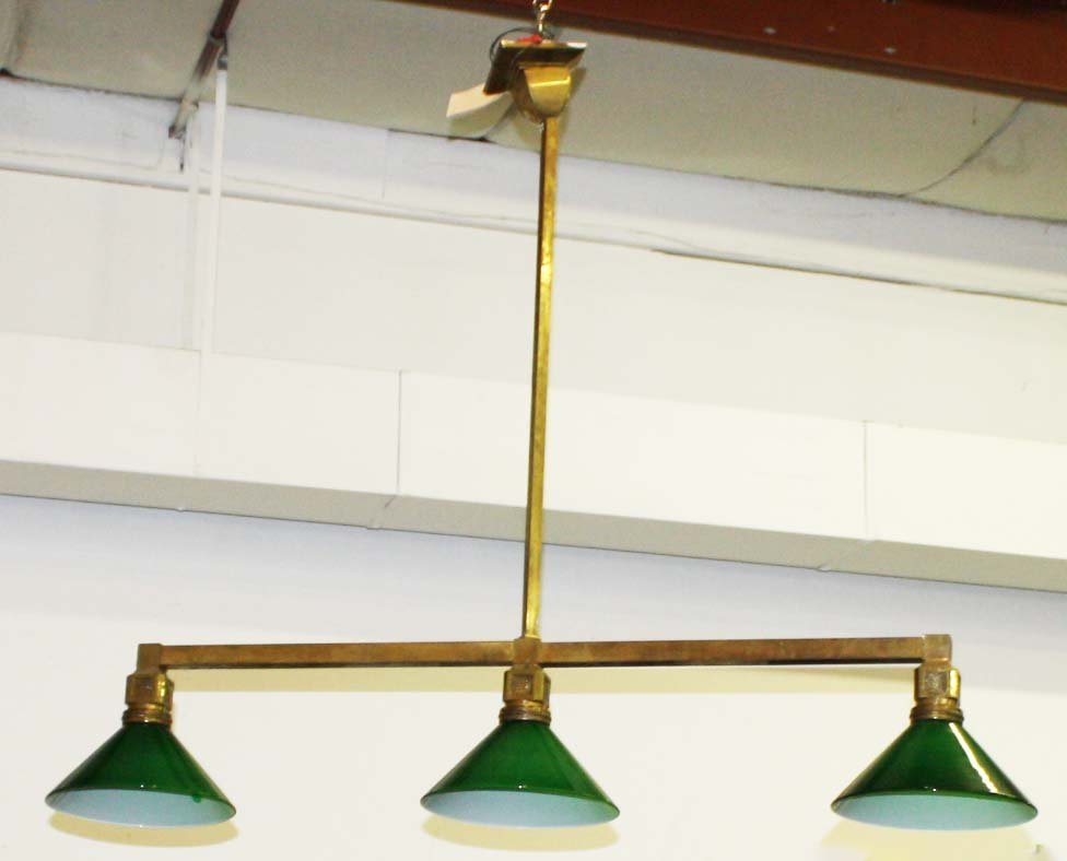 ca 1910 Arts & Crafts brass lighting fixture