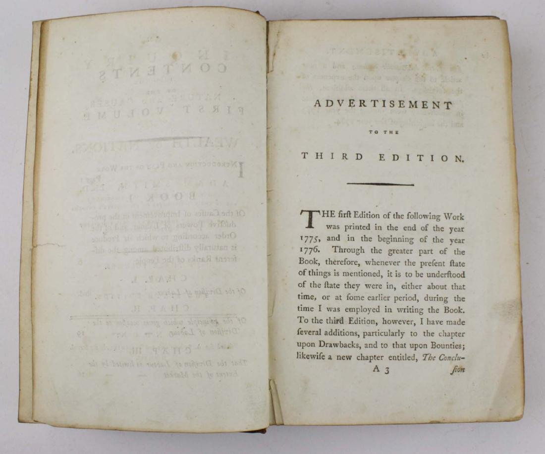 """1791 Adam Smith """"Wealth of Nations"""" vol 1 - 2"""