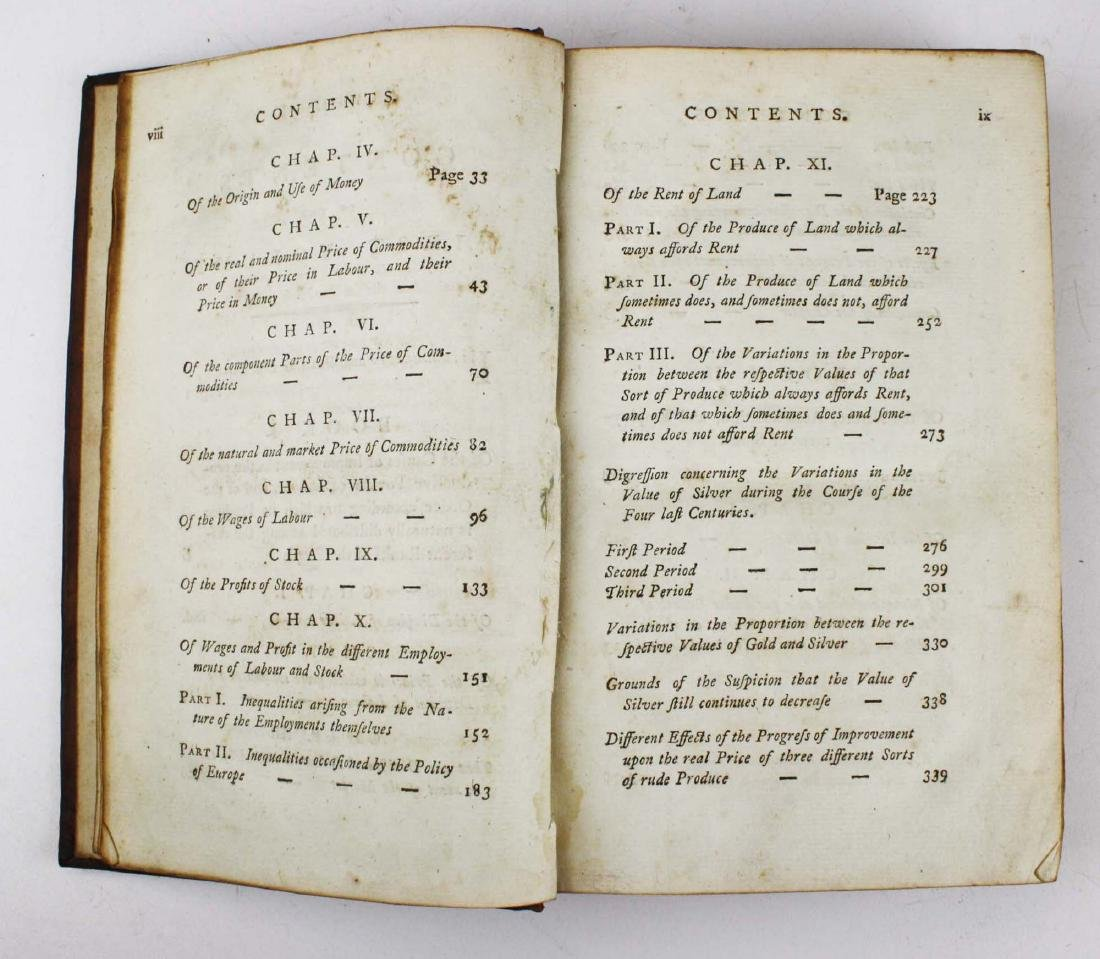 """1791 Adam Smith """"Wealth of Nations"""" vol 1 - 3"""