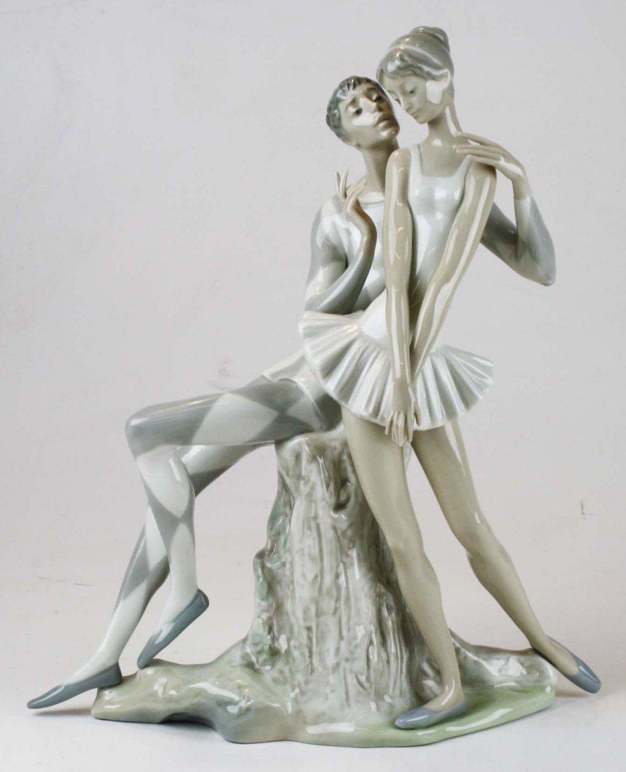 Lladro ballerina porcelain figural group