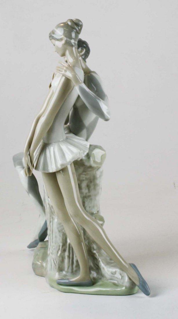 Lladro ballerina porcelain figural group - 2