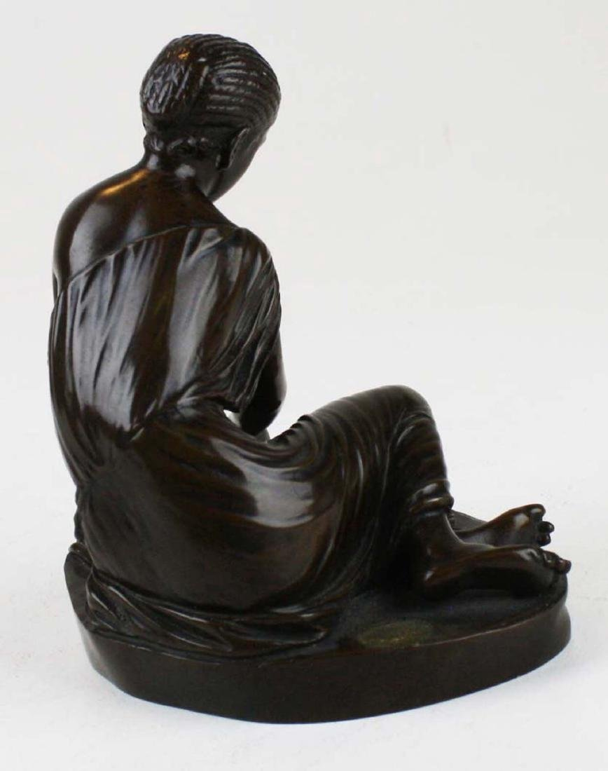 French bronze of girl playing bones by Collas - 3