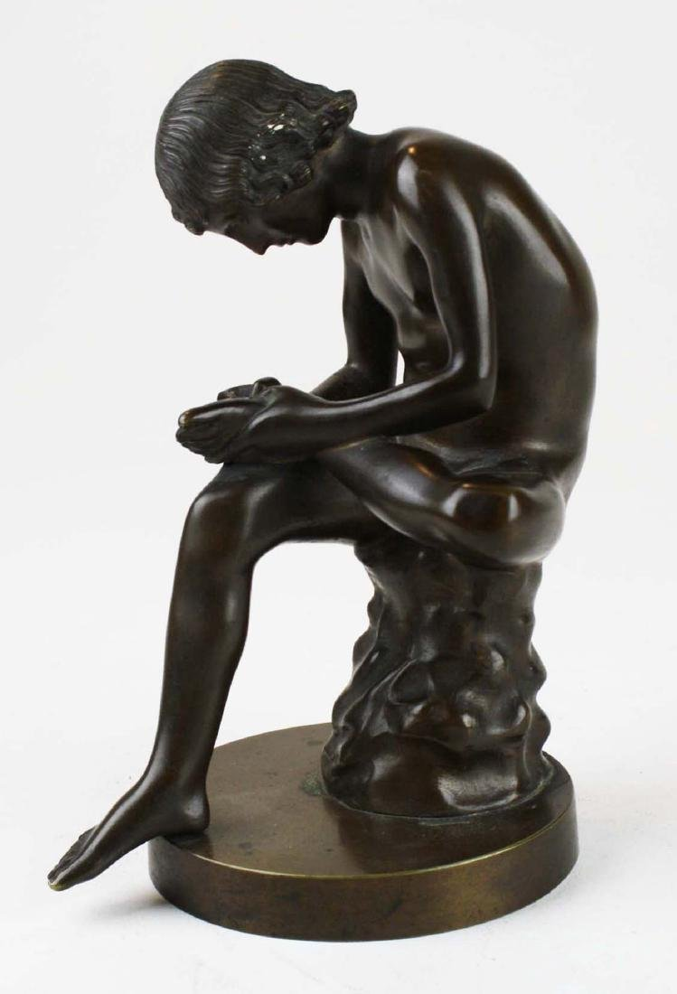 "19th c French bronze ""Spinario"" Boy w/ Thorn - 2"