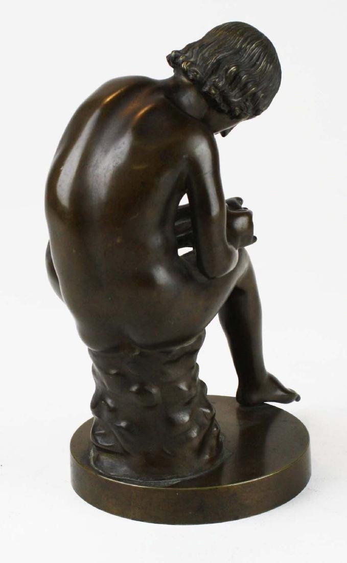 "19th c French bronze ""Spinario"" Boy w/ Thorn - 4"