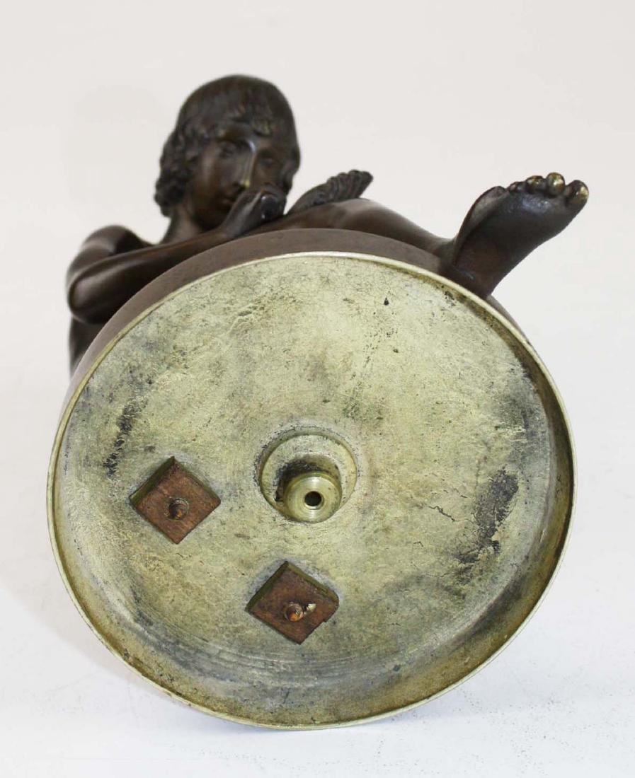 "19th c French bronze ""Spinario"" Boy w/ Thorn - 7"