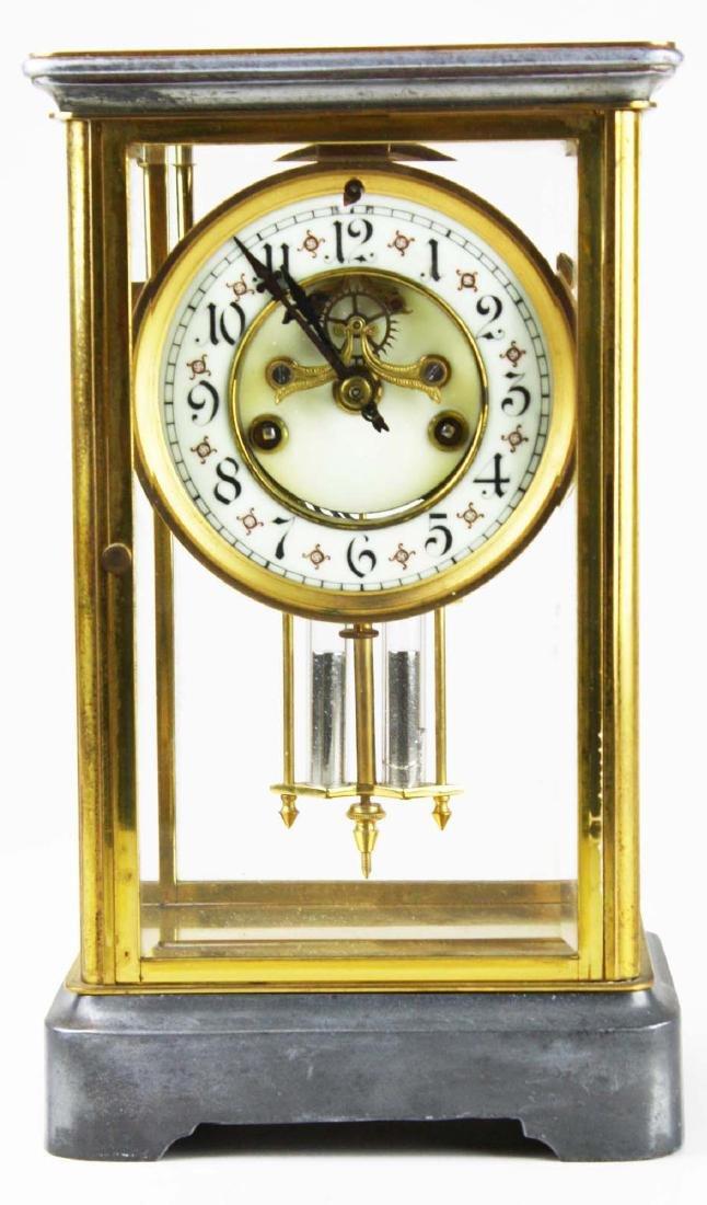 ca 1900 crystal regulator shelf clock