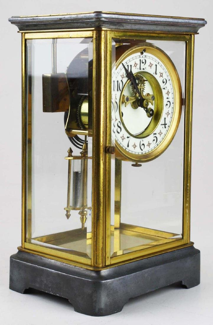 ca 1900 crystal regulator shelf clock - 2