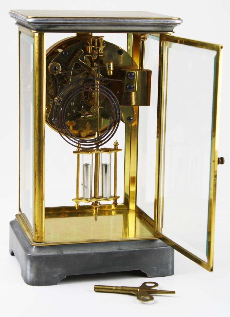 ca 1900 crystal regulator shelf clock - 3