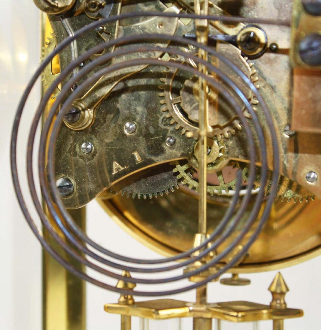 ca 1900 crystal regulator shelf clock - 4
