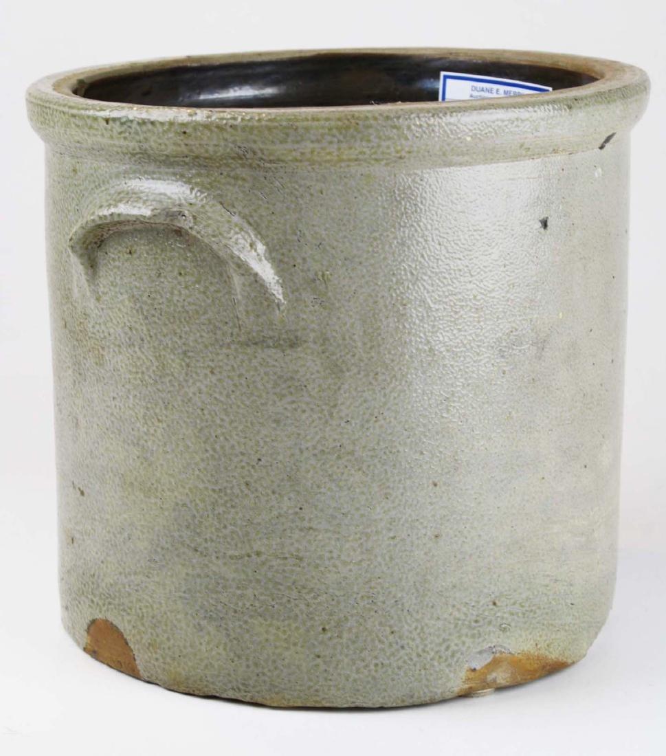 2 gallon stoneware crock w/ stenciled eagle - 2
