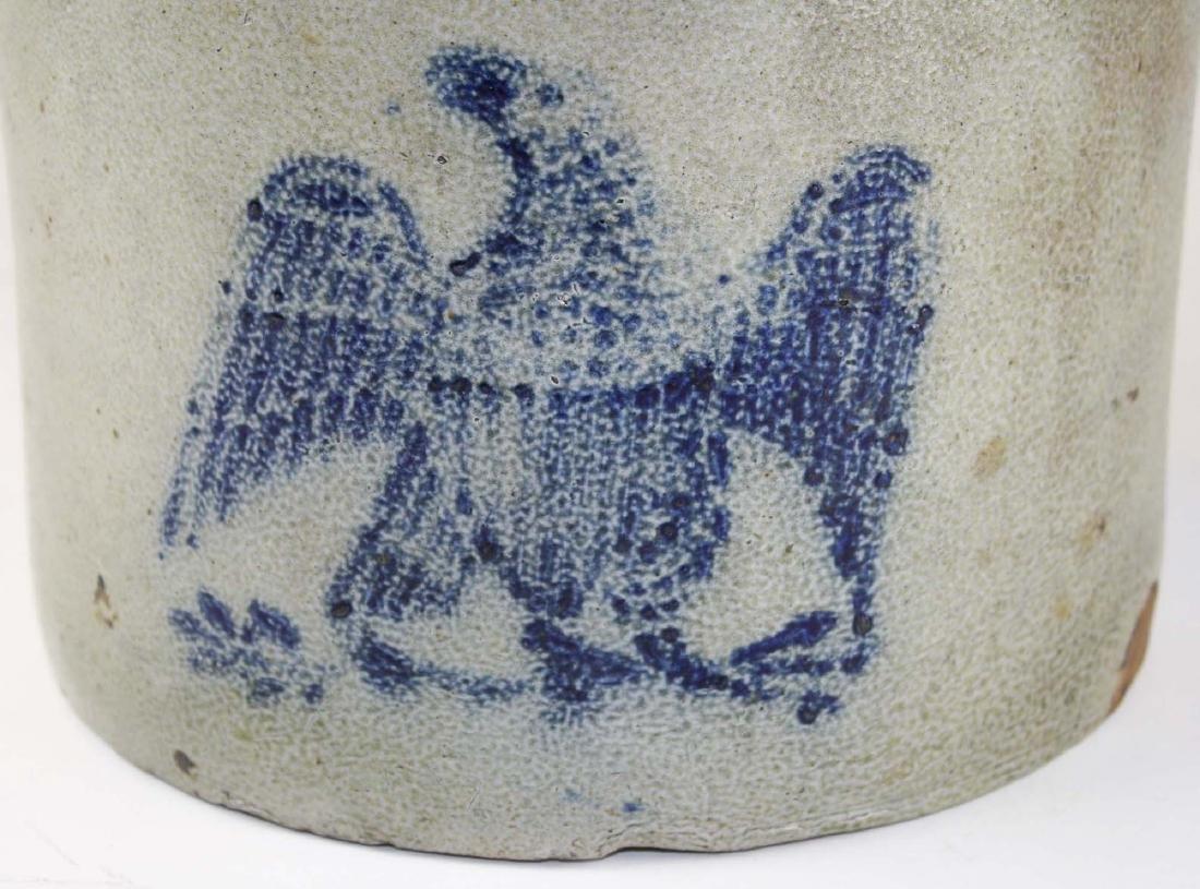 2 gallon stoneware crock w/ stenciled eagle - 4